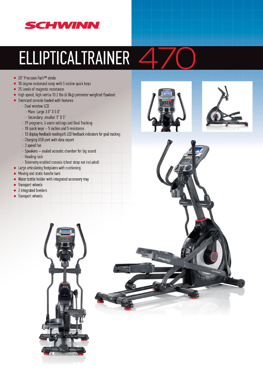 dimensions elliptical machine